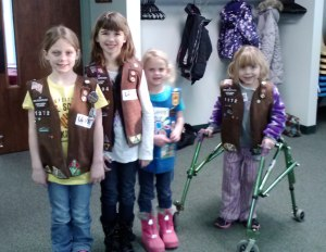 Girl Scouts at the ready at our Freeport Service Center!