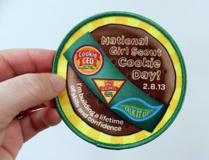 Visitors to National Girl Scout Cookie Day could purchase the official patch to celebrate the day!
