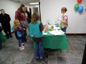 Angelica K. greets visitors at the Rockford Service Center.